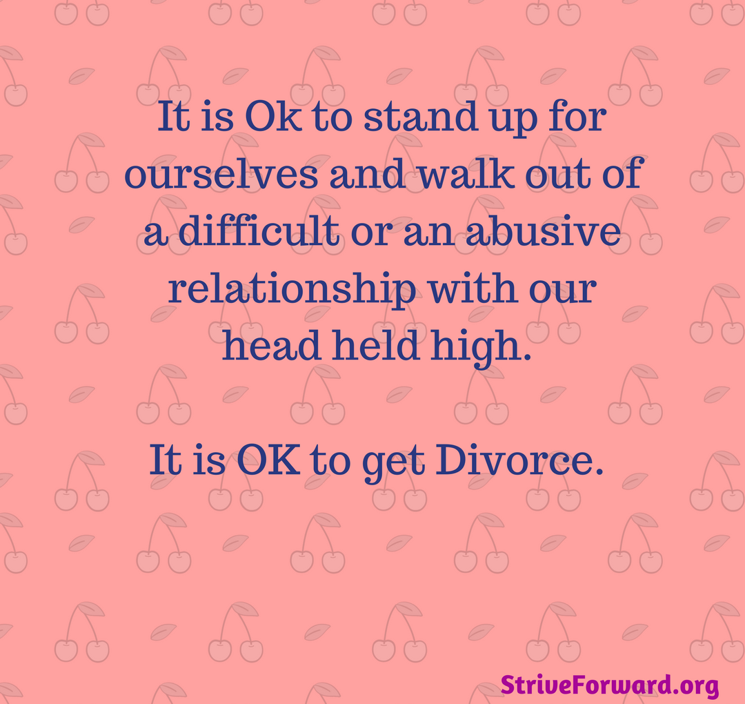 divorce is not the answer to an undesired relationship Its not like i'm asking for sex everyday, which by the way, i'd be happy with  i  feel completely unattractive to and unwanted by my spouse all the while  this  disclaimer applies to the answer below  having said that, it is also important for  you to know that divorce does not have to mean ruining your life.
